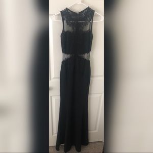 Black lace floor length gown